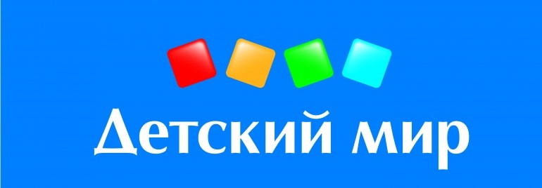 Логотип на синем фоне