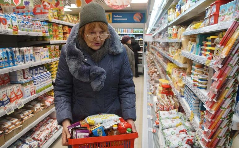 Покупатель в гипермаркете